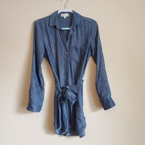 Cloth and Stone Chambray Printed Shirt Dress XS